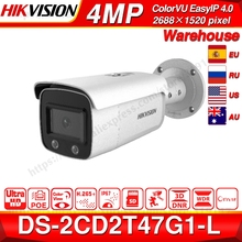 Hikvision ColorVu Original IP Camera DS-2CD2T47G1-L 4MP Network Dome POE IP Camera H.265 CCTV Camera SD Card Slot dahua h 265 ipc hdbw4431r zs ip camera 2 8mm 12mm varifocal motorized lens 4mp ir50m with sd card slot poe network camera