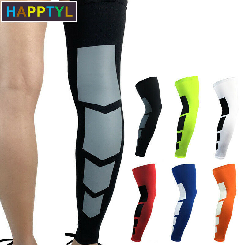 HAPPTYL 1Pcs Leg Support Recovery Compression Leg Sleeves - Sport Football Basketball Cycling Strech Leg Knee Long Sleeve
