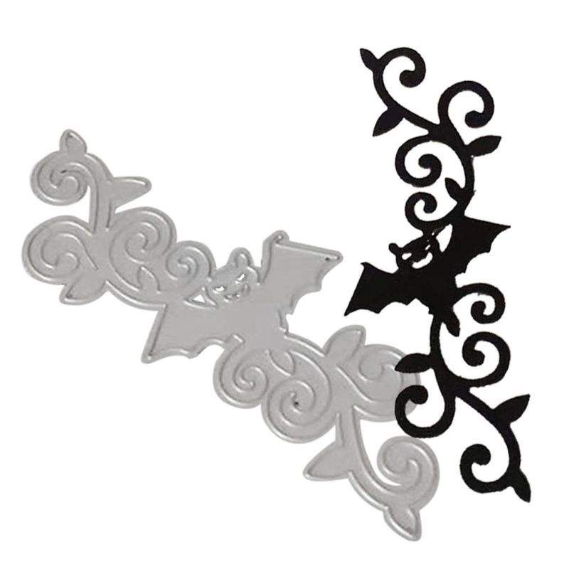 <font><b>Halloween</b></font> Bat Border Metal Cutting <font><b>Dies</b></font> Stencil DIY Scrapbooking Album <font><b>Stamp</b></font> <font><b>dies</b></font> scrapbooking image