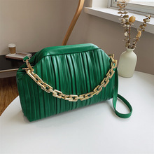 Lnv 2021 New Chain Small PU Leather Shoulder Crossbody Bags With Short Handle For Women Winter Luxury Simple Lady Handbags