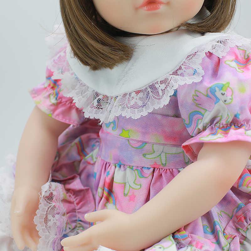 Милая силиконовая кукла реборн bebe 42 см супер реалистичное Мягкое хлопковое туловище кукла Возрожденный ребенок Brinquedos мальчик игрушка Сюрприз подарок