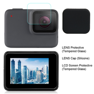 Image 2 - GAQOU Tempered Glass for Gopro Hero 7 6 5 Black Lens Cap LCD Screen Protector Go Pro Action Camera Protective Film Accessories