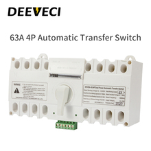 цена на DEEVECI 16A 32A 40A 63A ATSE 220V 4P changeover switch MCB Type CE ATS Dual Power Automatic Transfer Switch Home Use White Color