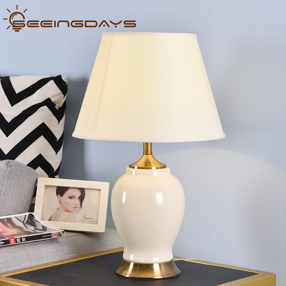 Buy 3 Get 20% Off High Grade Ceramic Table Lamp Bedside Lamp For Bedroom Living Room Home Decor Bedroom Lamp Indoor Lighting EU