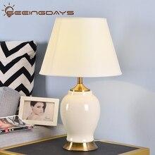 Compre 3, obtenga 20% de descuento, lámpara de mesa de cerámica de alto grado, lámpara de noche para dormitorio, sala, decoración del hogar, lámpara de dormitorio, iluminación interior EU