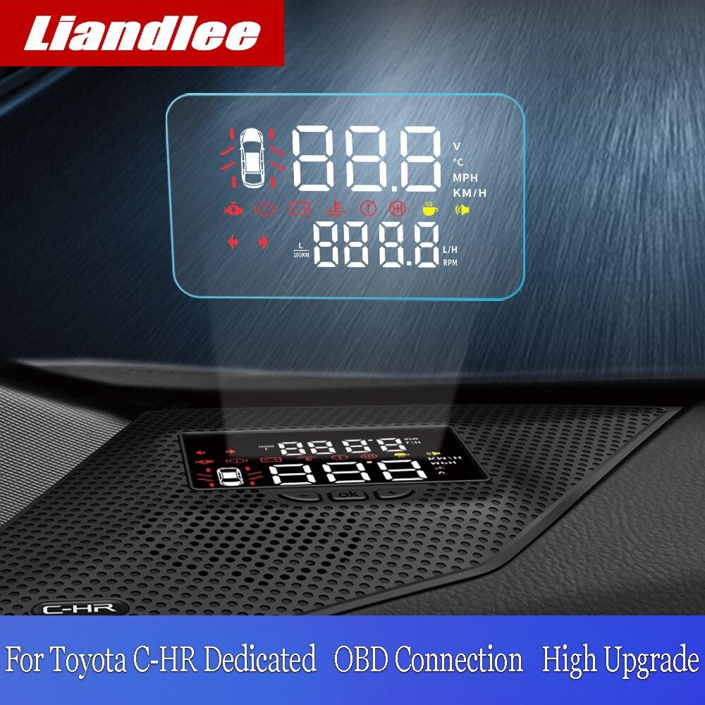 Liandlee Car HUD Head Up Display For Toyota CHR C-HR 2018 2019 Digital Speedometer Fuel Consumption Projector Screen Detector Pakistan