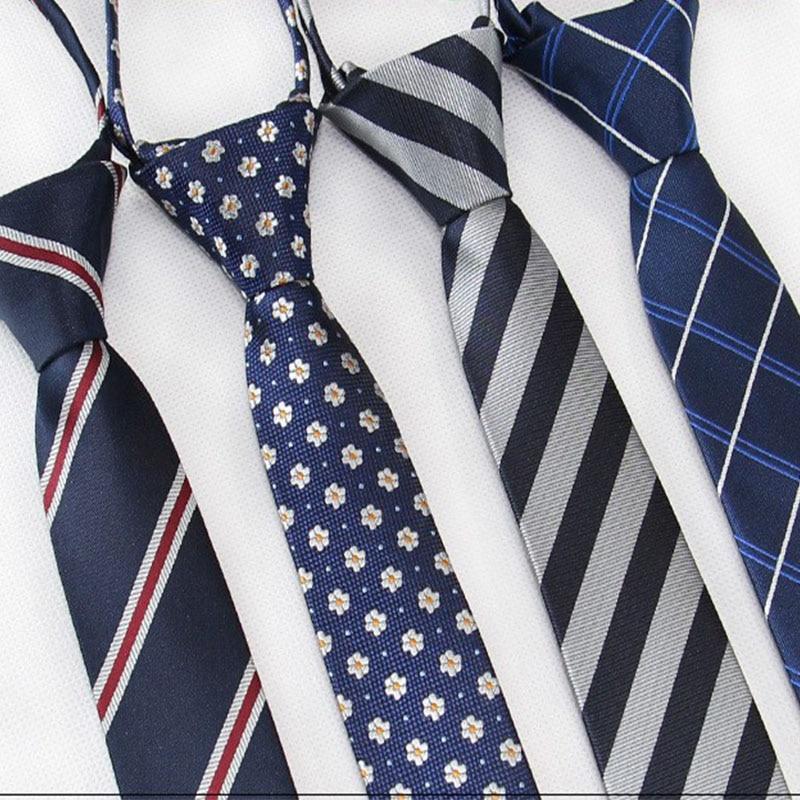 Модный мужской галстук 45*5 см/6 см в полоску, однотонный, для отдыха, узкие галстуки, легкие, на молнии, вечерние, студенческие, для выступлений|Мужские галстуки и носовые платки| | АлиЭкспресс