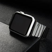 Ceramic Strap for Apple Watch Band 44 mm 40mm iwatch band 42mm 38mm Stainless steel buckle link bracelet Apple watch 6 SE 5 4 3