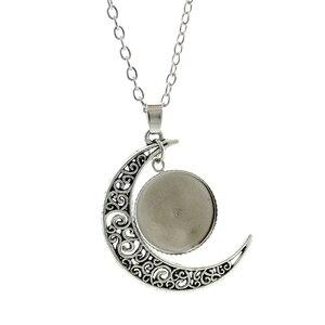 Image 4 - JOINBEAUTY islamskie muzułmanie Allah wzór księżyc naszyjnik moda kobiety akcesoria dla mężczyzn prosty wisiorek ręcznie robiona biżuteria NT355