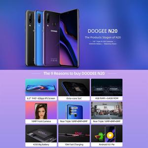 """Image 3 - DOOGEE N20 Mobile Phone Android 9.0 4G LTE MTK6763V Octa Core 4GB RAM 64GB ROM 6.3"""" FHD+ 19:9 Display 16.0MP 4 Cameras 4350mAh"""