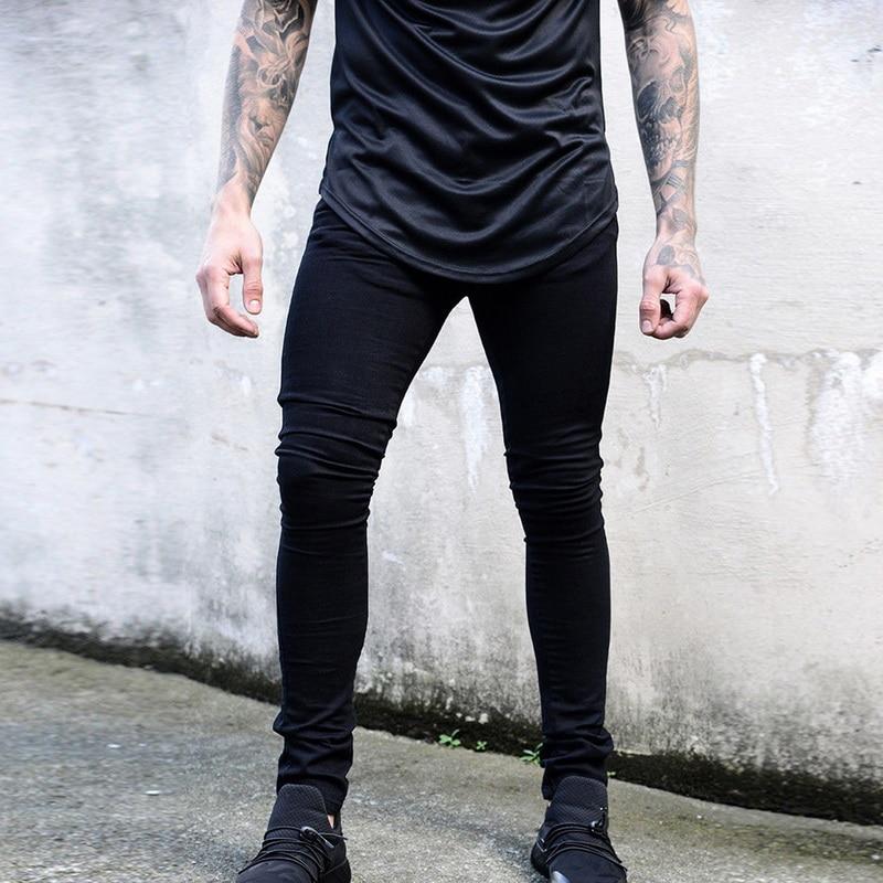 Качественные джинсы, винтажные обтягивающие джинсы, Мужские повседневные джинсовые брюки, Стрейчевые джинсовые брюки, Осенние уличные узкие джинсы, брюки