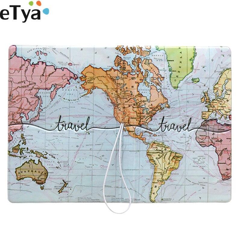 ETya Travel Packing Organizers  Accessories Women Men Passport Cover Pouch Pu Credit ID Card Passport Holder Bag Wallet Purse