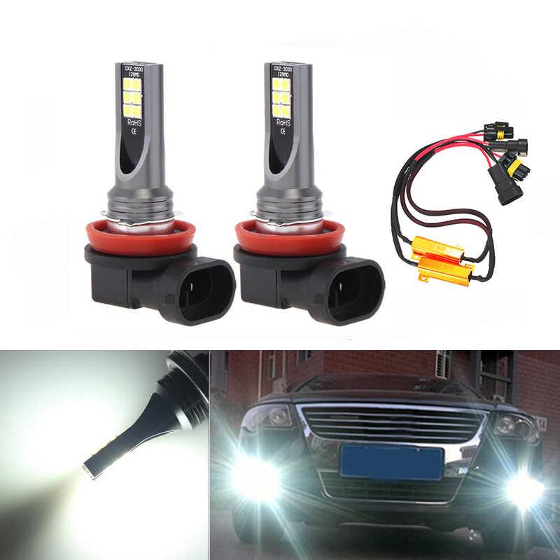 Phare antibrouillard de voiture 1 paire de feux antibrouillard de pare-chocs avant de voiture pour Je-tta G-olf MK5 Tiguan Caddy