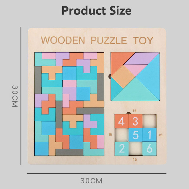 Hot Sale New Clever Board Puzzle Wooden Toy Classic Tetris Jigsaw Kids Learning Educational Toys for Children Puzzles Game