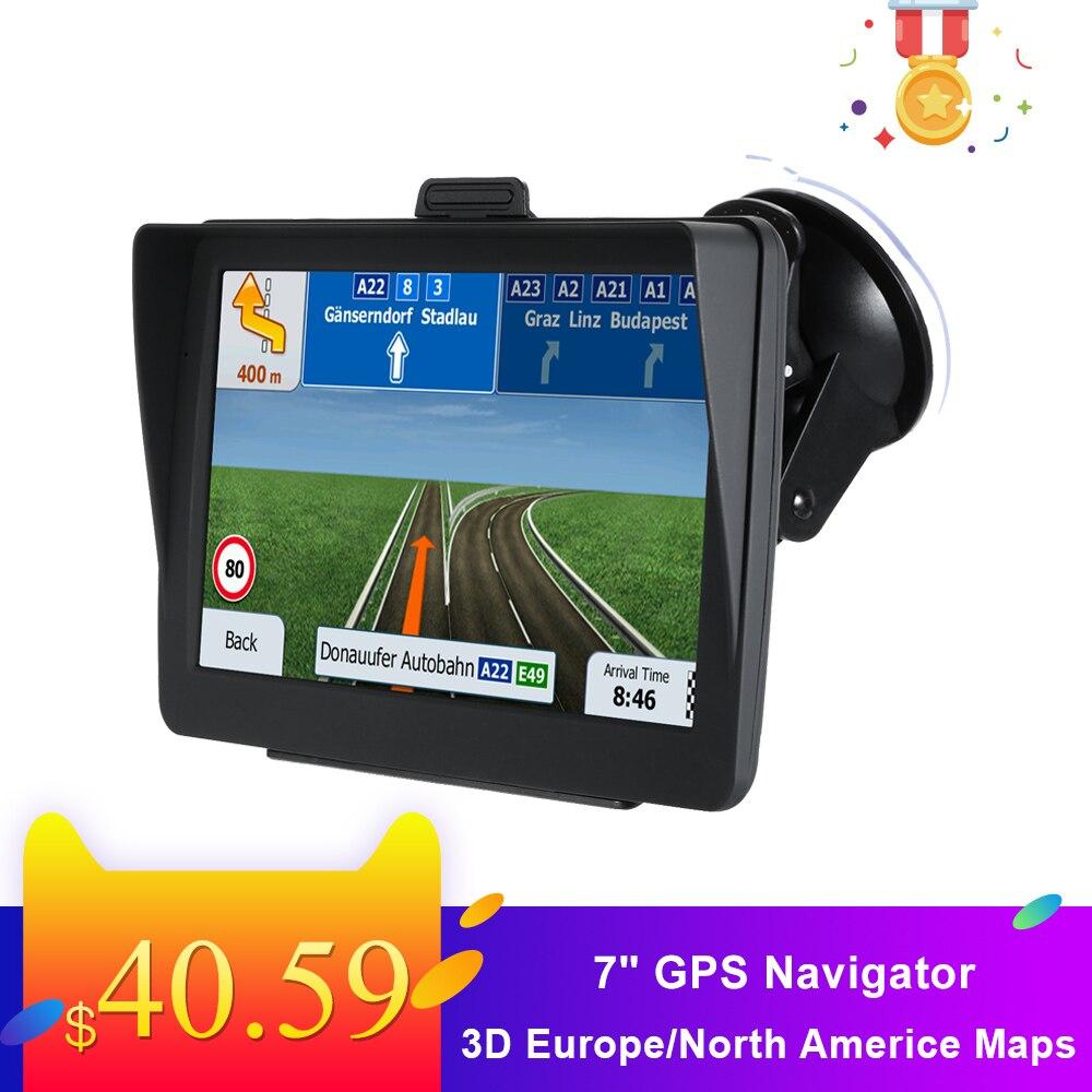 Новейшая 7 HD gps навигационная система 8G голосовое руководство и направленный ограничитель скорости оповещения с 3D карты Европы/Северной Америки