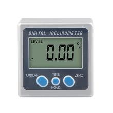 1PC Magnetic Base Digital Protractor Angle Gauge Finder Inclinometer Bevel Box Meter Small Electronic Protractor Measuring Tool