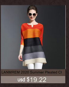 LANMREM 2020 High Quality New Fashion V Collar Pleats Batwing Sleeve Loose Big Size Dress For Women Print Clothing Vestido YE853