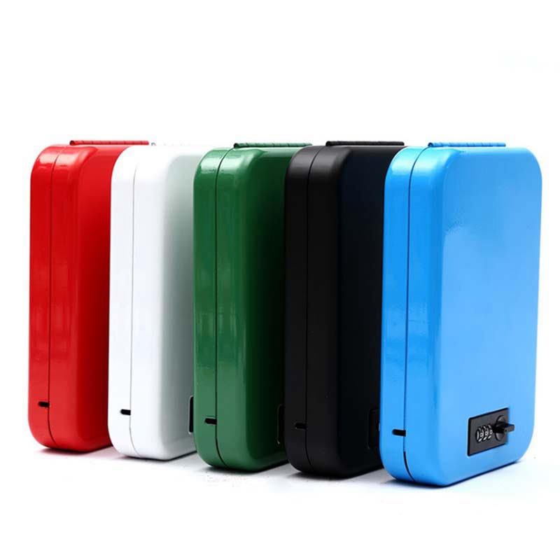 Cassetta di sicurezza chiave Auto portatile cassaforte Auto oggetti di valore portafoglio scatola di immagazzinaggio gioielli cassetta di sicurezza cassetta di sicurezza