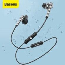 Baseus S30 بلوتوث 5.0 سماعة لاسلكية سماعة الرياضة ستيريو سماعات مقاوم للماء المغناطيس بلوتوث سماعة مع هيئة التصنيع العسكري للهاتف