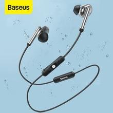 Baseus s30 bluetooth 5.0 fone de ouvido sem fio esporte fones estéreo à prova dwaterproof água ímã bluetooth fone com microfone para o telefone