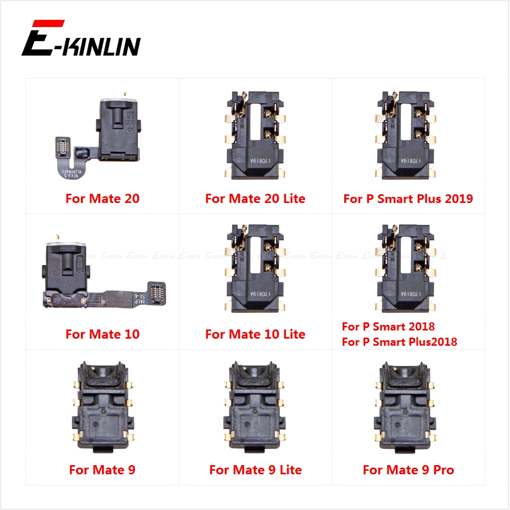 Ear Earphone Port Connector Headphone Jack Audio Flex For HuaWei Mate 20 10 9 Lite Pro P Smart Plus 2019 2018 Repair Parts