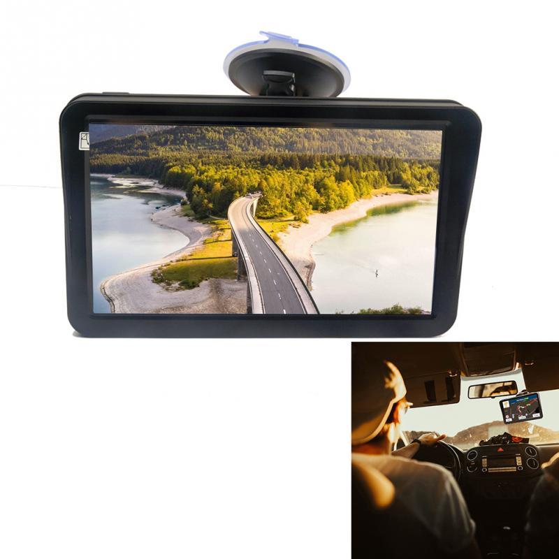 9 pouces voiture camion GPS Navigation 256MB 8G FM transmetteur avec pare-soleil cartes gratuites caravane HD guidage multilingue écran tactile