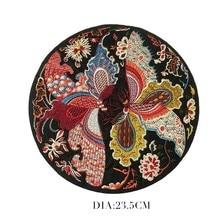 Японская обувь с украшениями в виде цветков и бабочек вышитые патчи для Костюмы Сделай Сам наклейки для аппликаций одежды шить значки китайский Стиль большой Стикеры