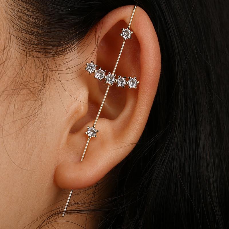 Emmaya Simplicity Style New Hot Cubic Zirconia Crystal Stud Earrings Accessories