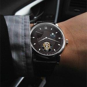 Image 5 - سوبر BGW9 مضيئة الأيدي توربيون الرجال ساعة الأصلي ST8001 التقويم القمر المرحلة توربيون الرجال ساعات آلية التمساح