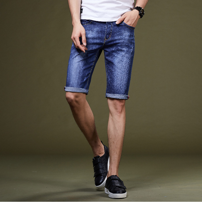 2019 Summer New Style Small Business Trend Men's Trousers Pencil Pants Pants Youth Jeans Shorts