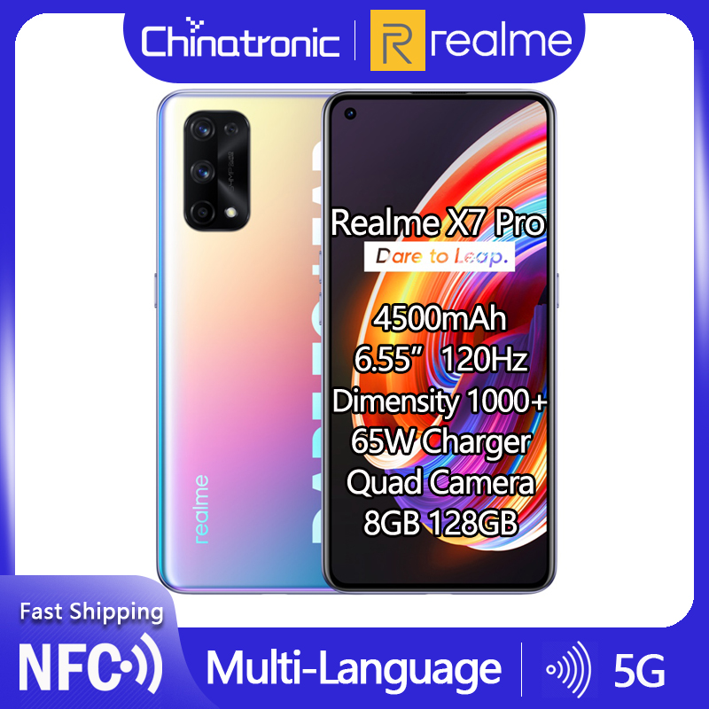 Realme X7 Pro 8 Гб 128 ГБ 5G мобильный телефон Dimensity 1000 6,55