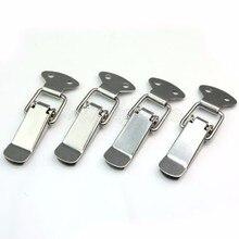 MTGATHER 4 шт. аппаратные ящики для шкафа Пружинные защелки переключателя 27*63 железная застежка для раздвижных дверей простой оконный шкаф