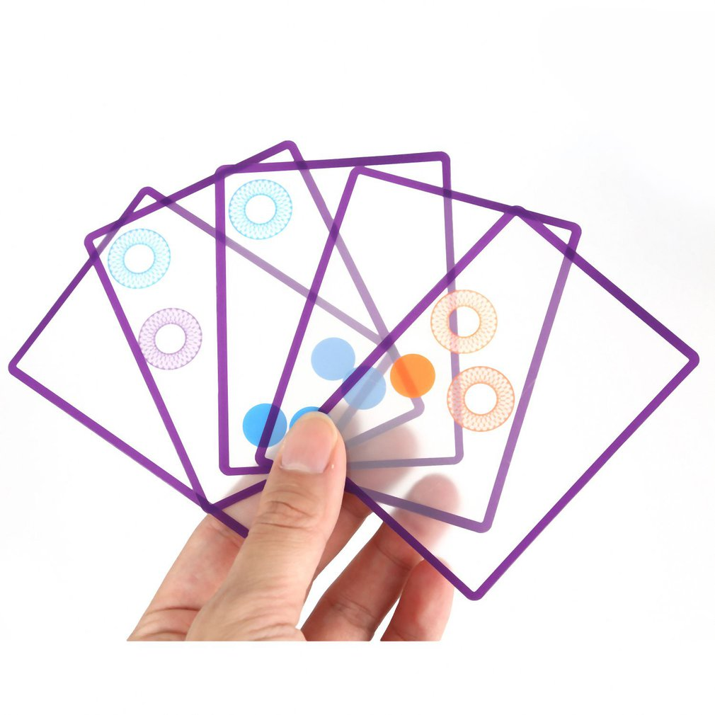 Multiple Overlapping Swish Transparent Card Excellent ABS Plastics Prolonged Durable Game Kid Spatial Logical Puzzle Toy