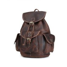 Leather Backpack Vintage Genuine Leather Travel Backpacks Rucksack School Laptop Camping Hiking Bag for College balang brand unisex water rsistant laptop backpack boys and girls portable travel backpacks fashion college school bag rucksack