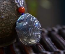 حقيقي الطبيعية الأخضر اللابرادوريت النساء الرجال أحجار كريمة منحوتة بأشكال قلادة 25x21x9 مللي متر Moonstone كريستال 925 قلادة فضية AAAA