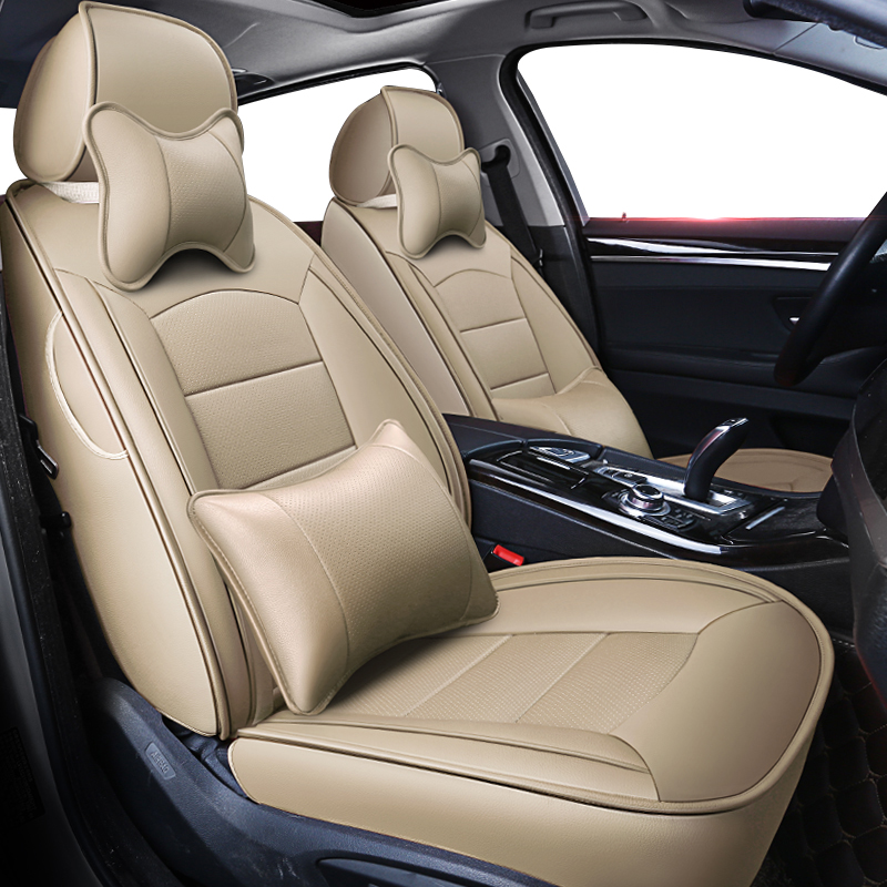 Car Seat Covers for Mazda 3 6 CX-3 CX-4 CX-5 CX-7 Axela Atenza Luxury All Weather Protection Leatherette Car Front and Rear Seat Protector Airbag Compatible Black