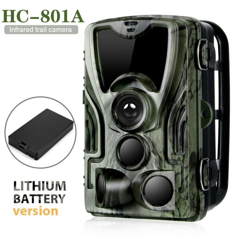 HC801A Hunting Trail Camera 5000Mah Lithium Battery Wild Cameras 16MP 1080P IP65 Photo Trap 0.3s Trigger Wildlife Camera 8