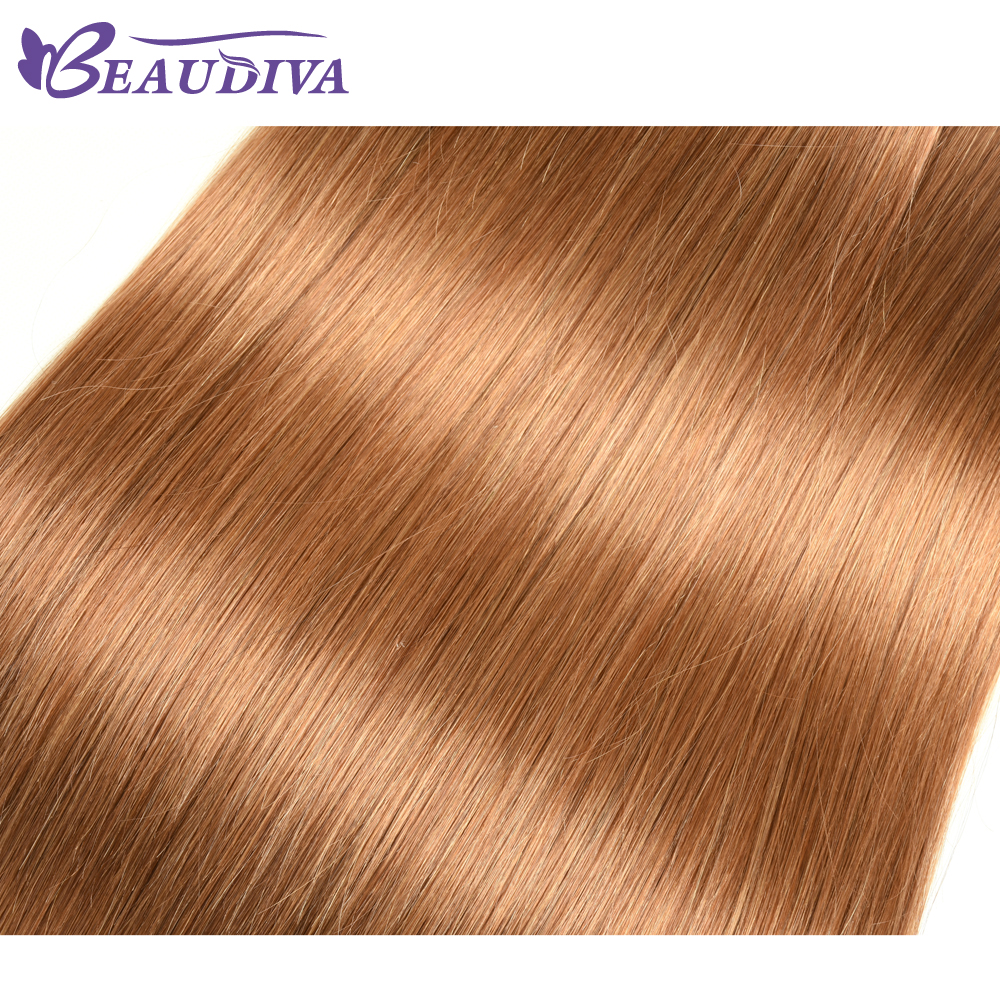 BEAUDIVA  Straight  1/3Bundles Middle Brown 4 27 30 Color  3 Bundles Hair  s 6