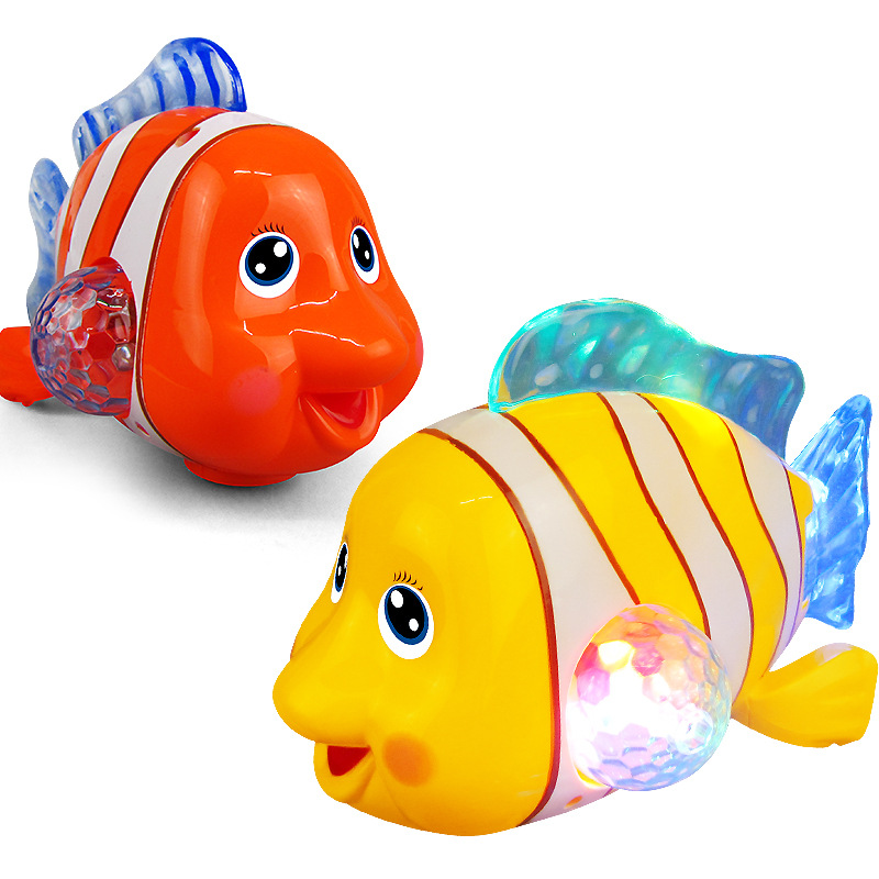 New Style Children Electric Universal Clownfish Light Music Toy Stall Hot Selling