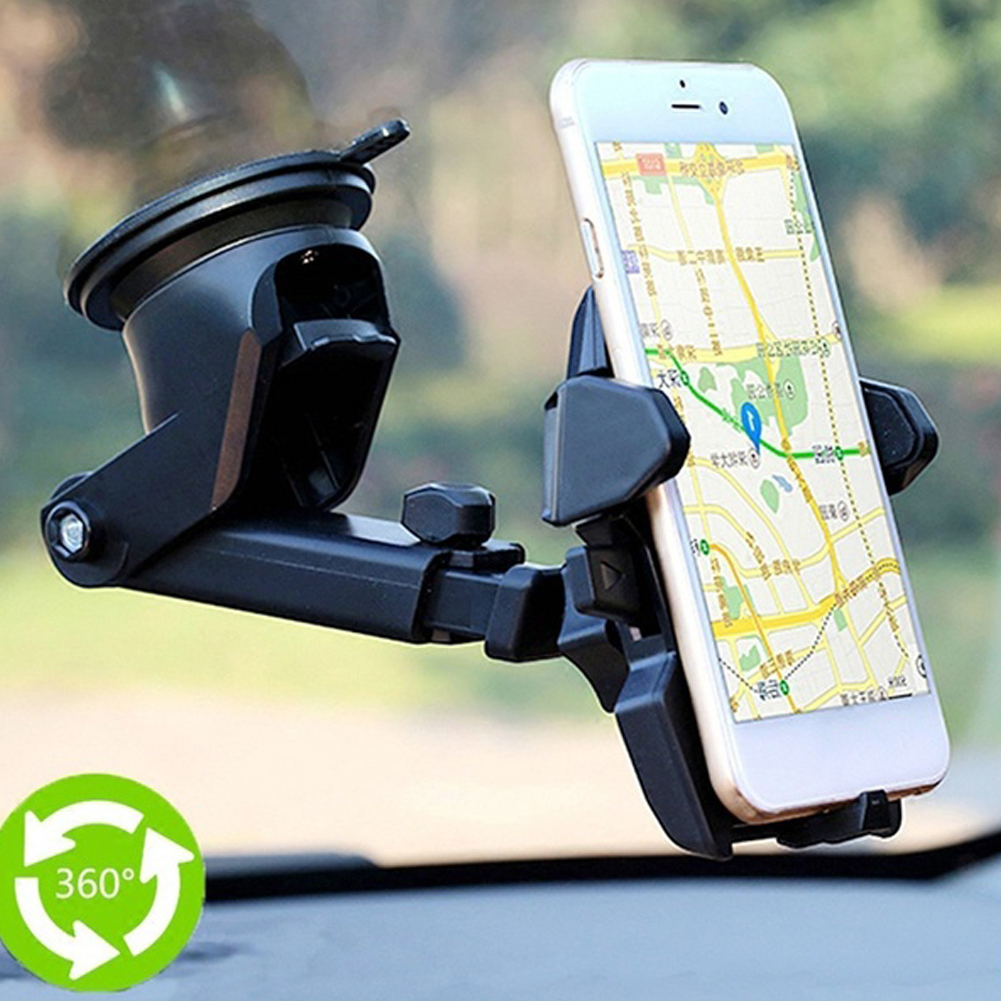 360 Degrees Universal Smartphone Car Mount Holder Adjustable Phone Mounting Suction Cup Holder