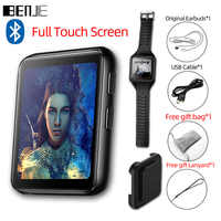 BENJIE K1 Full Touch Screen Bluetooth MP3 Player Mit FM Radio, Recorder, e-buch Tragbare Audio 8GB 16GB Mini Clip Musik-Player