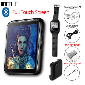 BENJIE K1 Full Touch Screen Bluetooth MP3 Player With FM Radio,Recorder,E-Book Portable Audio 8GB 16GB Mini Clip Music Player