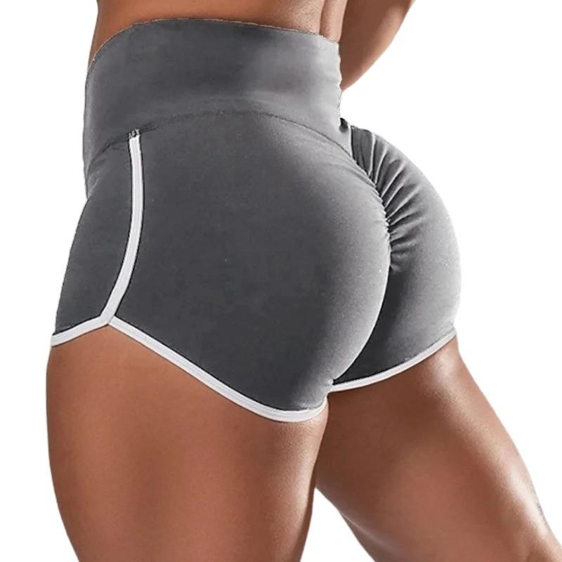 Women Workout Yoga Shorts High Waist Stretch Ruched Butt Lift Sport Pants S-5XL