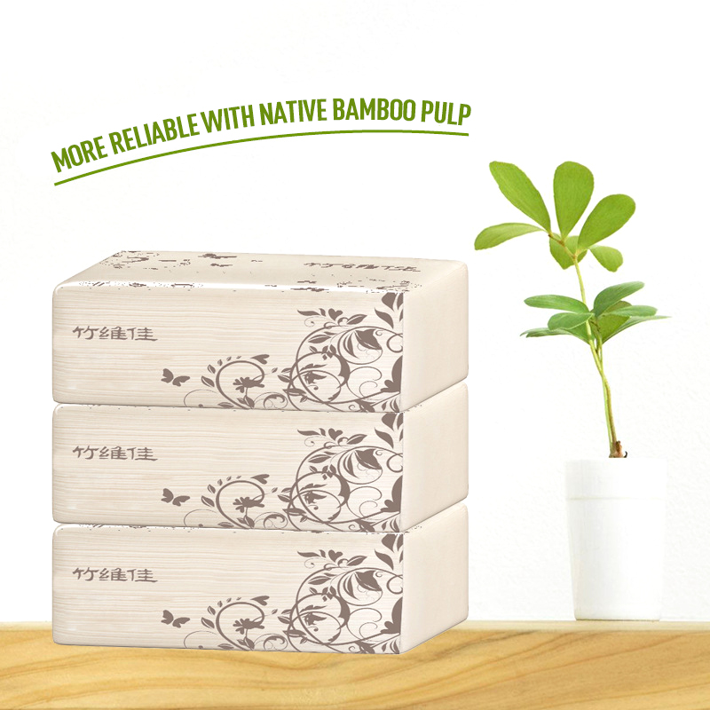 New Bamboo Pulp Soft Toilet Paper Household Eco-Friendly Tissue 4ply Facial Tissue Extractable Sanitary Paper Dropshipping