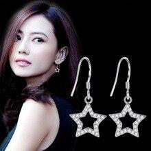 Long Geometric Eardrop Earrings Luxury Silver Color Square Heart-shaped Earring for Women Party Jewelry Gift цена и фото