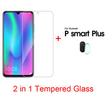 2 in 1 Clear Tempered Glass For Huawei P20 Pro P20 lite P Smart Plus 2019 Honor 20 10 lite Camera Lens Film For Huawei V30 Pro(China)