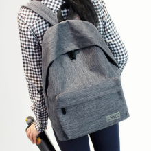 Solid color simple shoulder bag female middle school student bag Oxford cloth tide small fresh college wind backpack men fashion simple fresh design pure color oxford women backpack fashion girls leisure bag school student book bag waterpoof travel bag