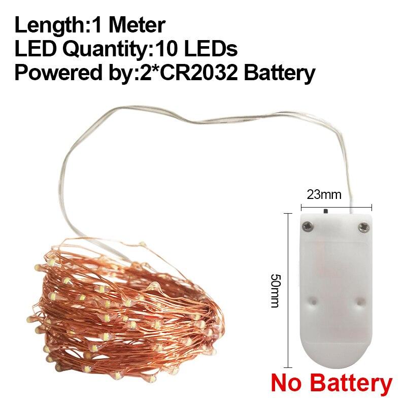 Светодиодный Кухня под шкаф светильник 10/20/50/100 светодиодный s Шкаф светильник s Водонепроницаемый шкаф светильник Подсветка в шкафу для Рождества - Цвет: 1M CR2032 No Battery
