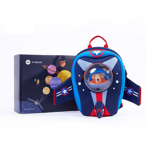 Image 4 - Anti lost Kids School Bags 3D Cartoon Shaped Airplane Design Backpack for Girls Boys Aircraft bags mochila infantil Escolares