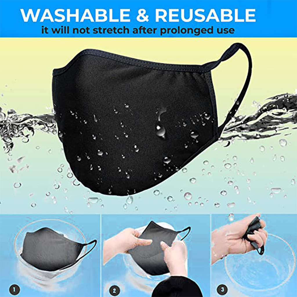 Adult Safety Protection Cotton Men Woman Mouth Face Masks Anti-fog Dust Haze Fliters Mouth Face Masks Cover Reusable Washable